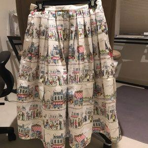 Lovely midi parisiense print skirt